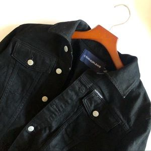 Calvin Klein Jeans Black Jean Jacket Size …